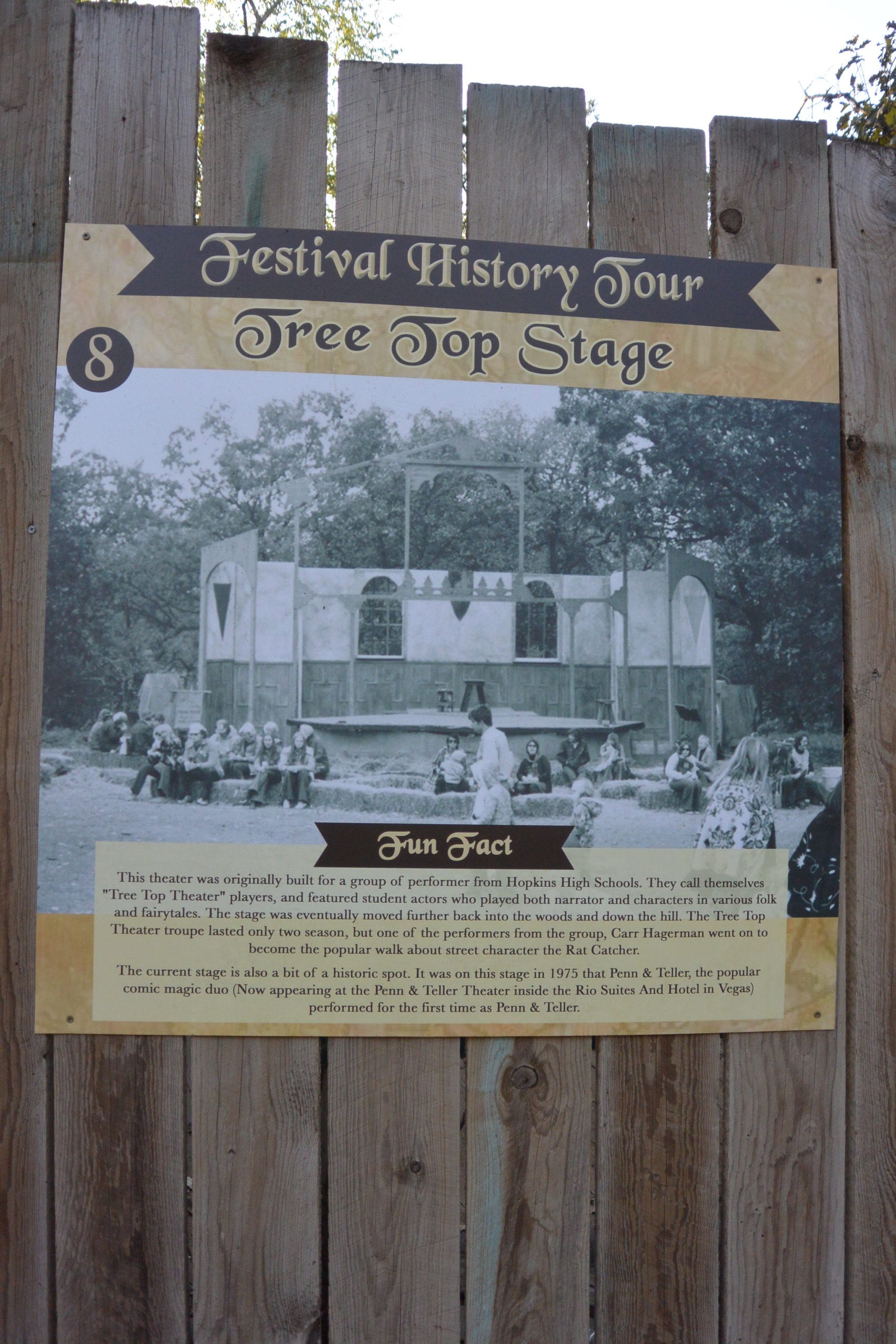 Festival History Tour: Tree Top Stage